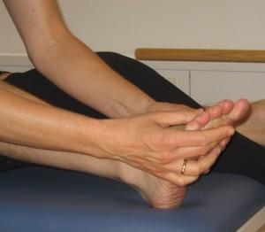 Manuel behandling af fod